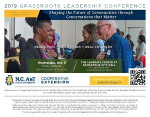 2019 Grassroots Leadership Conference Invitation
