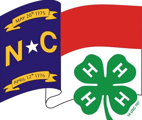 NC flag and 4-H clover logo
