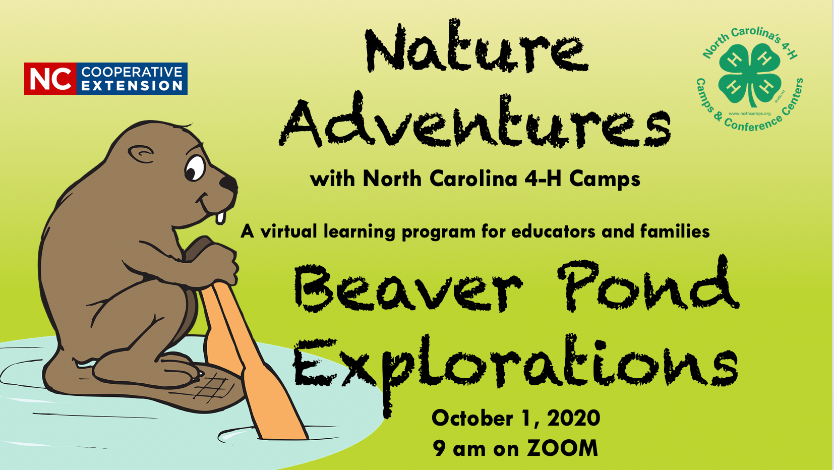 4-H Camps Beaver Pond Explorations