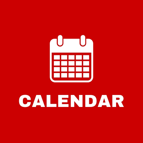 Red clickable square that says calendar