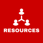 Red clickable square that says resources