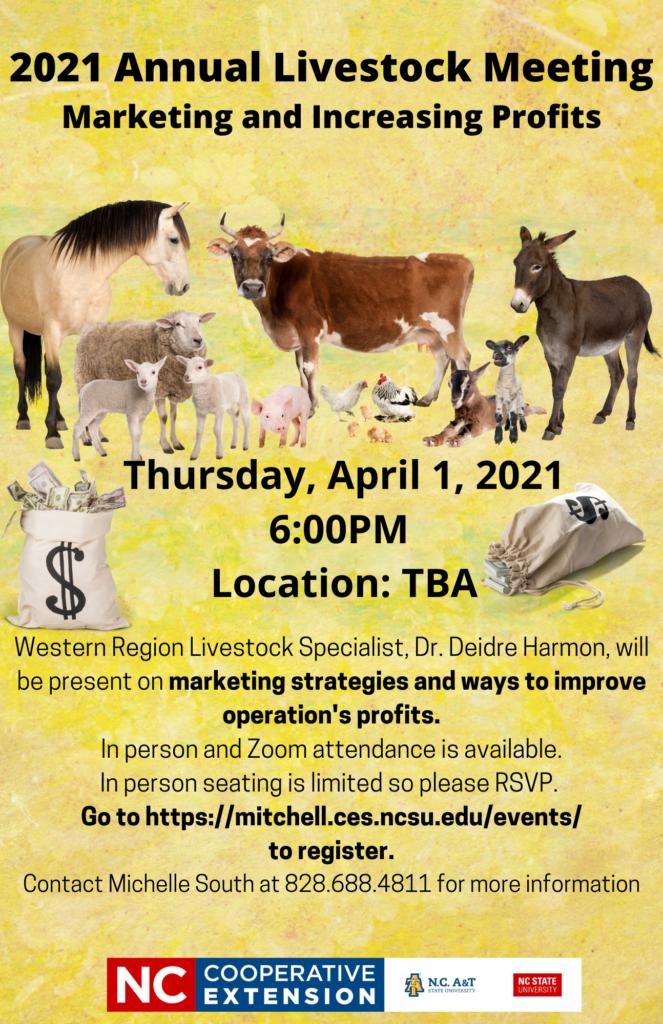 2021 Annual Livestock Meeting Flyer